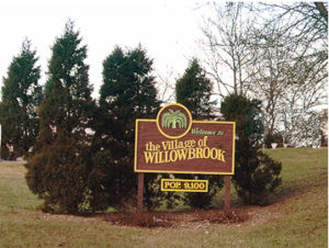 Village of Willowbrook Sign
