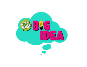 WTTW Kids BIG IDEA logo: a teal thought bubble with the name of the program inside.