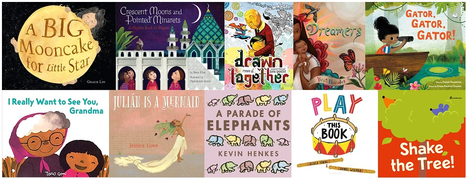 The covers of Miss Katie's picks for Top Ten Picture Books of 2018.