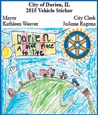 Darien city sticker 2015