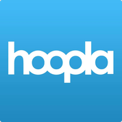 hoopla blue background