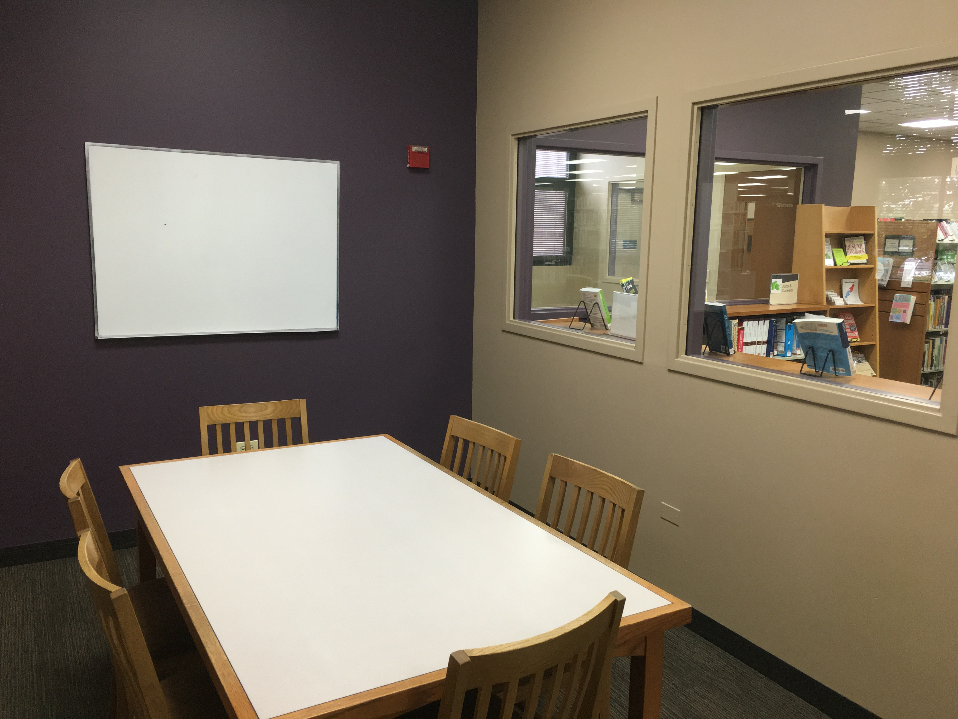 Conference room with tables.