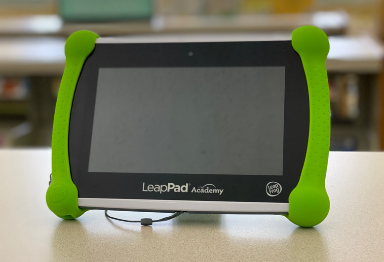 A picture of a leap pad tablet